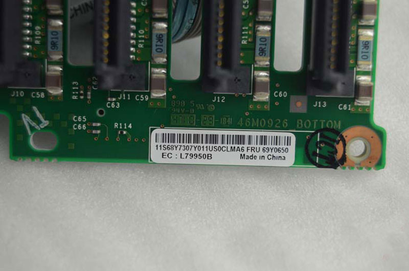 Backplane + 8 hdd IBM X3650 M3 hỗ trợ 16 hdd sas sata