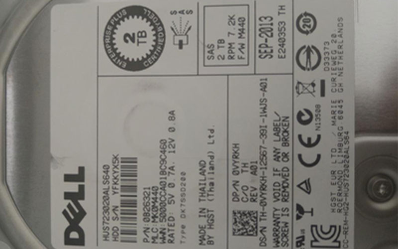 Ổ cứng HDD Dell 2T HUS723020ALS640 7.2K 3.5in sas