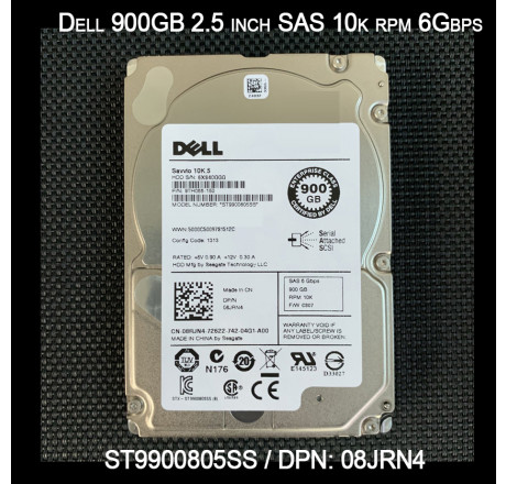 Ổ cứng HDD 2.5 inch Dell 900G sas 10k enterprise ST9900805SS 6Gbps