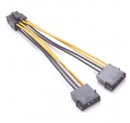 Cáp chuyển nguồn điện 2 x 4 pin HDD IDE sang CPU 8 pin